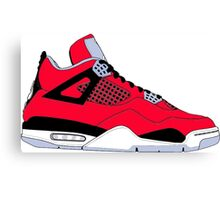 "Air Jordan IV (4) ""Toro Bravo"" Canvas Print"