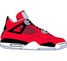 "Air Jordan IV (4) ""Toro Bravo"" Photographic Print"