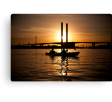 Kayaking in a Bolte Sunset Canvas Print