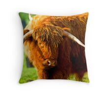 Highland Cattle #3 Throw Pillow