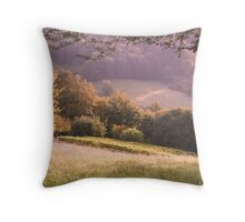 Countryside in France Throw Pillow