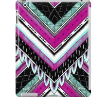 Pink & Turquoise Feather Pattern iPad Case/Skin
