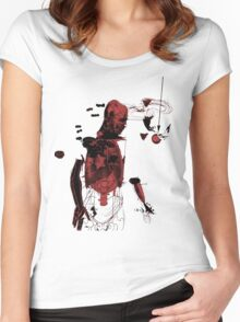 love and gravity - black and red version Women's Fitted Scoop T-Shirt