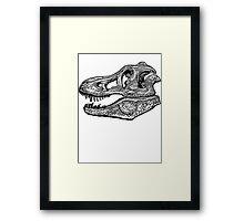 T-Rex Skull  Framed Print