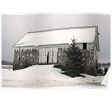 bleak barn...northern wisconsin Poster