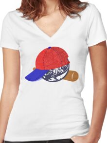 Earthbound/Mother2 Ness Women's Fitted V-Neck T-Shirt