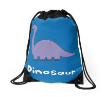 D for Dinosaur Drawstring Bag
