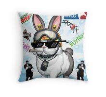 Rescue Rabbit Throw Pillow
