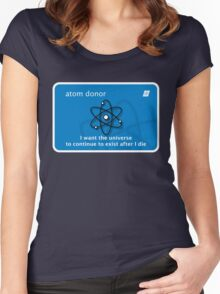 atom donor card [Big] Women's Fitted Scoop T-Shirt