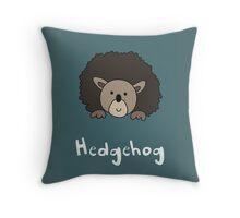 H for Hedgehog Throw Pillow