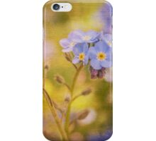 Blue Floral Textured  iPhone Case/Skin
