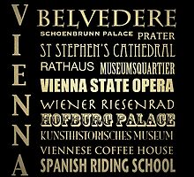 Vienna Famous Landmarks by Patricia Lintner
