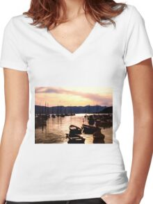 Dont rock my boat  Women's Fitted V-Neck T-Shirt
