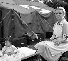 Red Cross Nurse and Infant by Chris Anderson