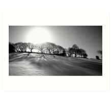 black and white winter Art Print