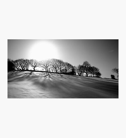black and white winter Photographic Print