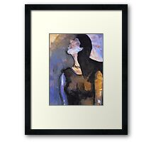 Girl on the bus Framed Print