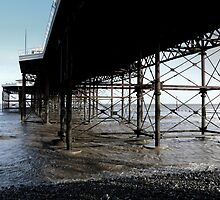 Under Cromer Pier in Norfolk toned by johnny2sheds