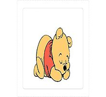 sleepy pooh bear Photographic Print