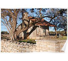 "Wooden ""Settlement"" House Mt Gainor Poster"