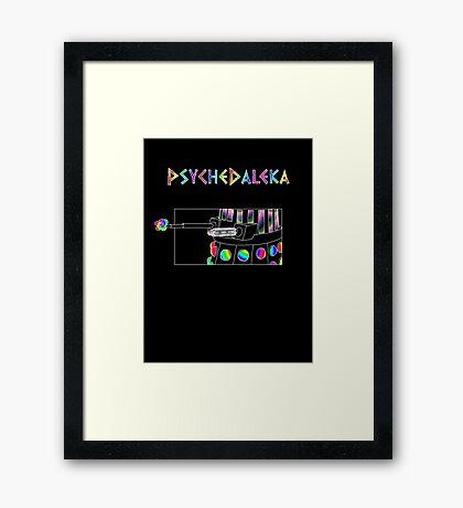 PsycheDaleka Body - Psychedelic Dalek! Framed Print
