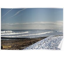 Winter Tides Sea View With Snow And Sand Original Poster
