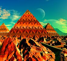 Valley of the Pyramid Builders by AlienVisitor