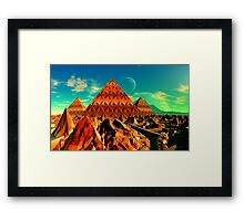 Valley of the Pyramid Builders Framed Print