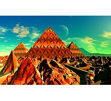 Valley of the Pyramid Builders Photographic Print