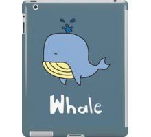 W is for Whale iPad Case/Skin