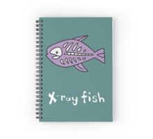 X for Xray Fish Spiral Notebook