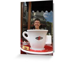Expresso smile Greeting Card