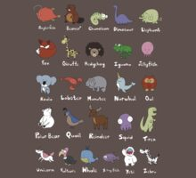 The Animal Alphabet Baby Tee