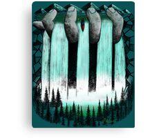 Hand Held Waterfall Canvas Print