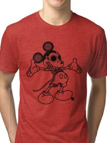 Ratón Miguelito - Black Tri-blend T-Shirt