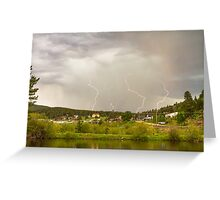 Rollinsville Colorado Lightning Thunderstorm Greeting Card