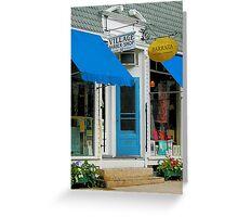 Barber Shop and Dress Shop Greeting Card
