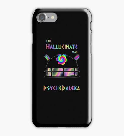PsycheDaleka Head - Psychedelic Dalek! iPhone Case/Skin