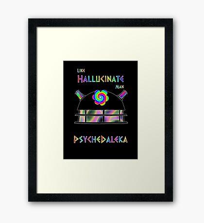 PsycheDaleka Head - Psychedelic Dalek! Framed Print