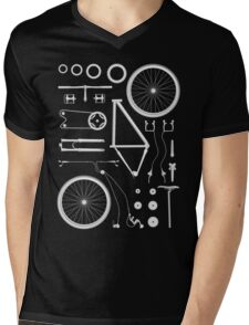 Bike Exploded Mens V-Neck T-Shirt