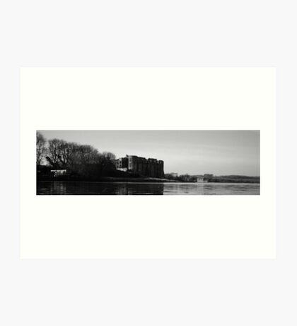 Carew castle black and white Art Print