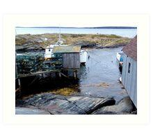 Tiny Harbour at Blue Rocks(1) Art Print