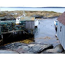 Tiny Harbour at Blue Rocks(1) Photographic Print