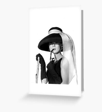 Audrey Hepburn - hat Greeting Card