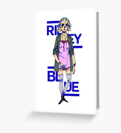 Riley Blue - Sense8 Greeting Card