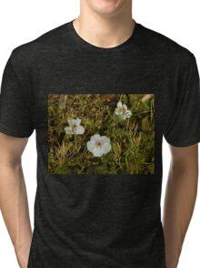 white flowers Tri-blend T-Shirt