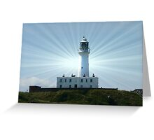 LIGHTHOUSE FLAMBOROUGH EAST YORKSHIRE Greeting Card