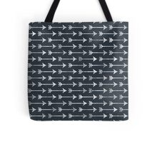 Chalkboard Black and White Tribal Arrow Pattern Tote Bag