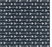 Chalkboard Arrow Pattern - Black and White Tribal by PatternPrint