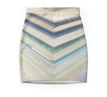 Blue chevrons Mini Skirt